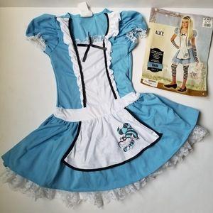 Alice in Wonderland Girls Costume Size L (10-12) Dress only